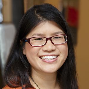 Smiling face of associate scientist Chrstina Tam