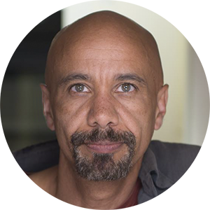 Smiling face of communication design specialist Ian Walker