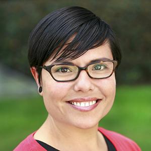 Smiling face of researcher Priscilla Martinez